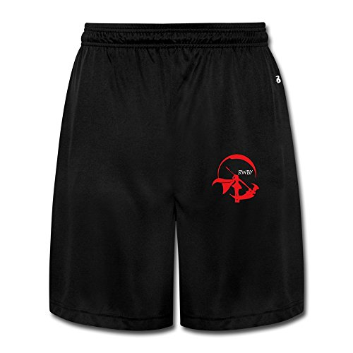 GGMMok Men's Crescent Rose Shorts Sweatpants Crescent Fine China