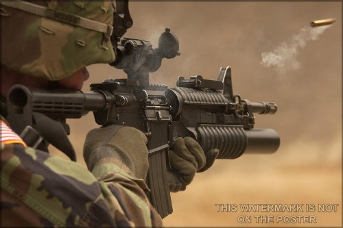"""M4A1 Carbine Assault Rifle - 24""""x36"""" Poster"""