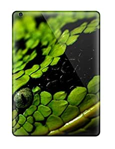 For Ipad Air Fashion Design Green Snake Case-UNbTkTE969dQSMy
