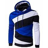 Seastar Men's Pullover Color Block Hoodies Sweatshirt Outwear