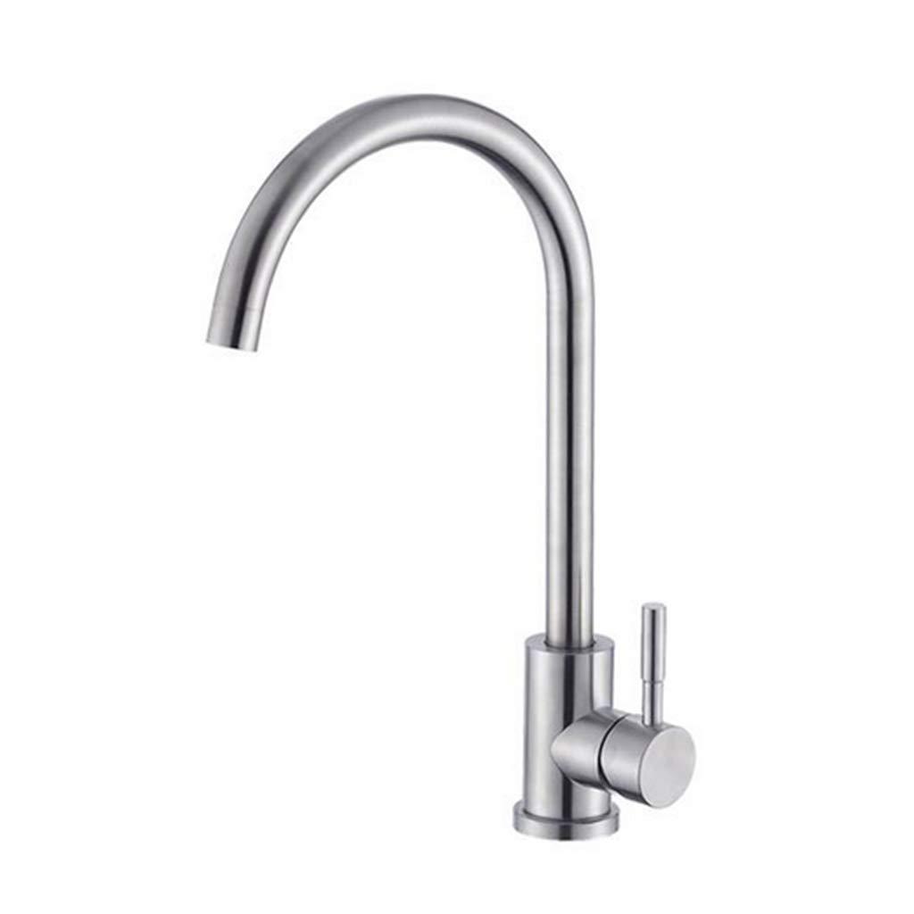 304 Edelstahl Wasserhahn Heißer Und Kalter Küchenarmatur Waschbecken Drehbaren Wasserhahn Bürstete
