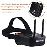 Makerfire 5.8Ghz Mini FPV Goggles 3 inch 40CH FPV Video Headset Glasses with Double RP-SMA Antenna and Handbag Built-in 1200mAh Battery for FPV Racing Drone Quadcopters