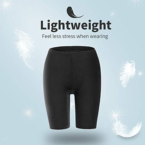 MANCYFIT Short Leggings for Women Slip Shorts Mid Thigh Legging Plus Size Undershorts Flat Black XX-Large