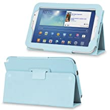 Fosmon OPUS Series Leather Folio Stand Case With Sleep Function & Stand for Samsung Galaxy Note 8.0 N5100 Tablet (Sky Blue)