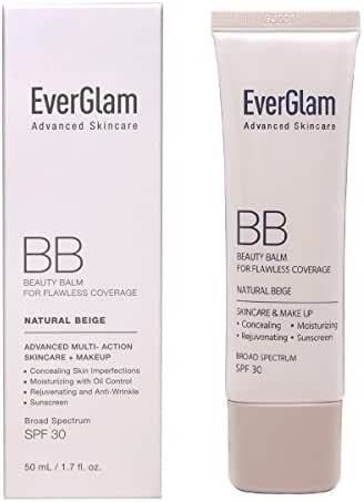 EVERGLAM BB Cream K-Beauty Skin Perfector, Light Medium - Flawless, Natural Look in Seconds   All-In-One: Amazing Coverage, Long-Lasting Moisturizer, Nourishing Skincare & SPF 30   For All Skin Types