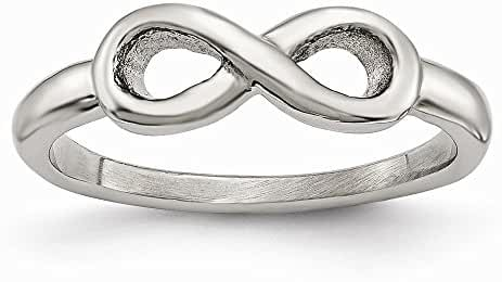 Stainless Steel Polished Infinity Symbol Ring