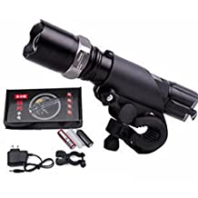 KitMax (TM) 280 Lumen Zoomable Focus CREE Flashlight Plus 18650 Battery with Charger and Bike Handlebar Holder