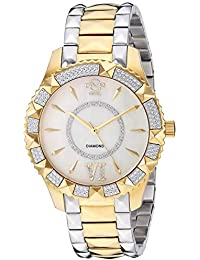 Women's Venice Swiss Quartz Watch with Gold Tone Stainless Steel Strap, Two, 18 (Model: 11714-425)