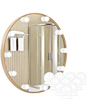 LED Vanity Mirror Lights, Kakanuo Hollywood Style LED Makeup Dimmable Light Bulbs, 3 Color & 10 Adjustable Brightness, USB Mirror Lights with 10 Bulbs for Make Up Mirror, Dressing Table (NO Mirror)