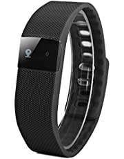 TW64 Smart Bracelet Watch Bluetooth 4.0 IP67 Incoming Call SMS Reminder Sleep Tracker Calorie - Black