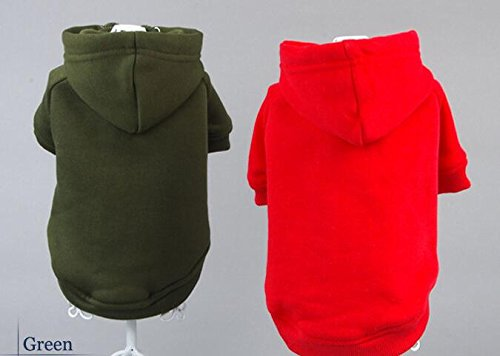 Green L Green L Texay(TM) 2016 New style popular pet dog Sweater small dog hoodies Various colors of the dog clothing cotton Dog Sweatshirt Hoodie Jacket