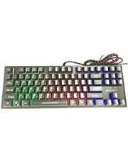 Gaming Computer Keyboard, Stylish RGB Backlight, Floating Key, Light Weight Smooth Touch Keys