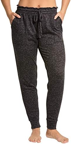 Danskin Women's Sleepwear- Jogger Lounge Sleep Pajama Pants, Super Soft, Patch Front Pockets