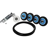 SAM -1 Dryer Repair kit Replacement For Samsung Dryer (4) Rollers DC97-16782A, (1) Pulley DC93-00634A &, (1) Belt 6602-001655 Repair Kit Includes Drum Rollers, Idler Pulley and Belt