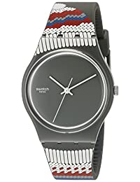 Swatch Women's GM183 Grey/Red Silicone Watch
