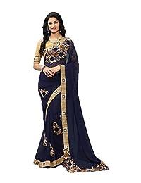 PinkCityCreations Indian Sarees for Women Partywear Ethnic Traditional Designer Sari