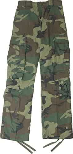 Army Universe Woodland Camouflage Vintage Military BDU Paratrooper Cargo  Fatigue Pants 2439cd05a81