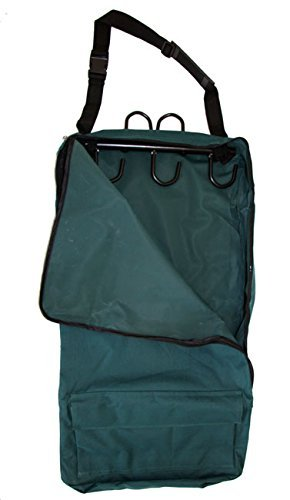 Deluxe Bridle Halter Tote Bag with Removable Tack Rack Green