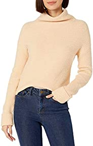 Daily Ritual Women's Cozy Boucle Horizontal Knit Standard-Fit Long-Sleeve Mock Neck Swe