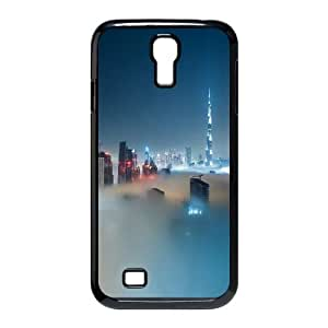 Dubai Skyline Covered In Fog Samsung Galaxy S4 9500 Cell Phone Case Black&Phone Accessory STC_127777