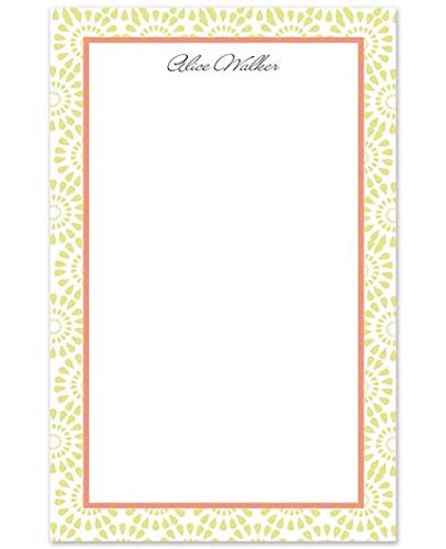 Sunburst Personalized Note Pad - 50 Sheets, 8.5 inches by 5.5 inches, Add Name, Personalized Stationery, Heavyweight 80# Smooth Matte White Cover Stock