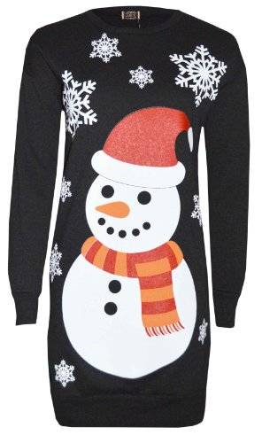 Black Snowman Tunic Rudolph Long 38 m And Babbo Reindeer The S Natale 36 With Patterns wXvraXq