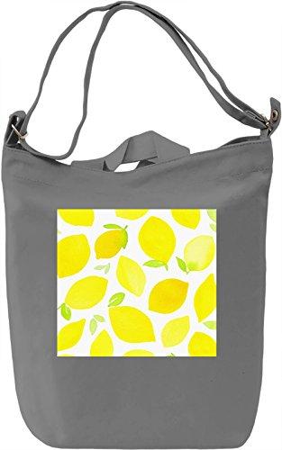 Lemons Print Borsa Giornaliera Canvas Canvas Day Bag| 100% Premium Cotton Canvas| DTG Printing|