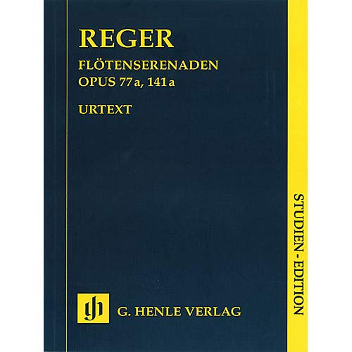 - Serenades for Flute, Violin, and Viola Op 77a and Op 141a Henle Study Scores Softcover by Max Reger- Pack of 2