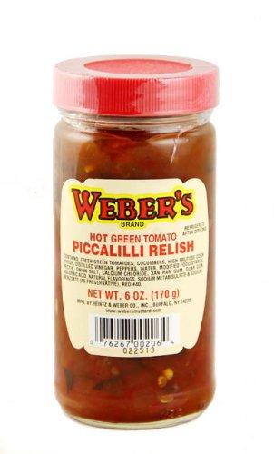 Weber's Buffalo's Own Brand Hot Green Tomato Piccalilli Relish 6oz.