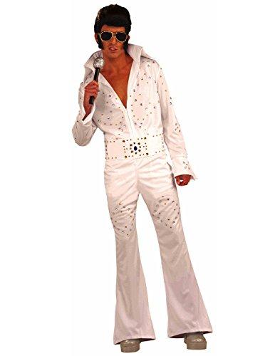 Forum Novelties Men's Flirtin' with The 50's Vegas Superstar Costume, White, One Size]()