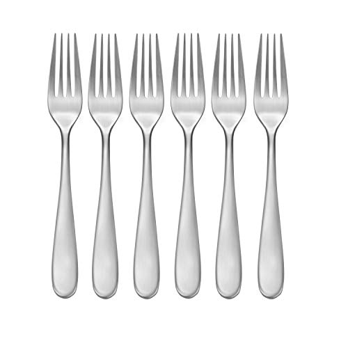 CraftKitchen Open Stock Stainless Steel Flatware Sets (Satin Classic, Dinner Forks Set of 6)