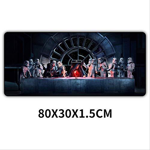 Sin marca80x30cm Alfombrilla de raton para juegos de Star Wars Xxl Alfombrilla de raton para computadora Alfombrilla de raton de escritorio de goma Xl grande 80 * 30 * 1.5 cm 4