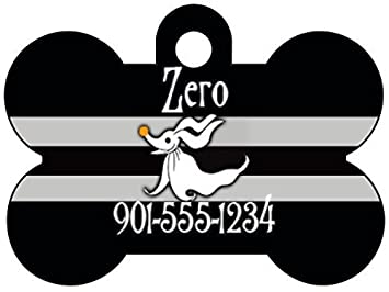 Disney Nightmare Before Christmas Zero Dog Tag Pet Id Personalized W Name Number