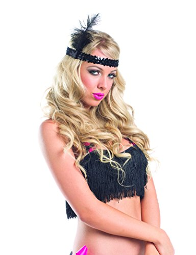 [Burlesque Dancer Showgirl Feather Head Piece Halloween Party Costume Accessory] (Disguise Costumes For Turkey)