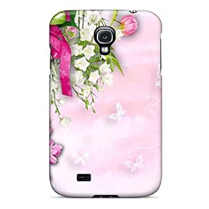High Quality Shock Absorbing Case For Galaxy S4-chrysanthemums Butterflies