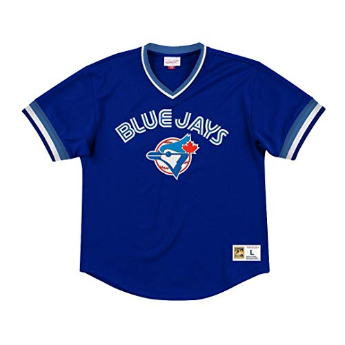 (Mitchell & Ness Toronto Blue Jays MLB Men's Dinger Mesh Jersey Shirt )