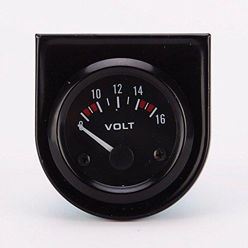 Universal Car 8-16V Voltmeter Volt Gauge Meter 52mm Black: