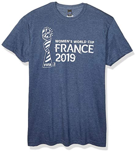 FIFA WWC France 2019 Horizontal On Dark Men's Tee, Navy Heather, x-Large