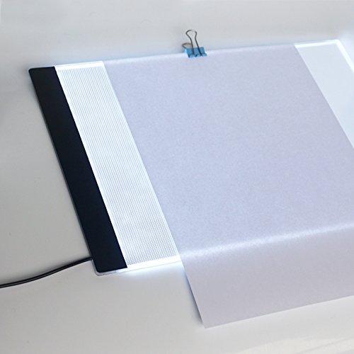 MYMM Tavoletta Luminosa, Scatola Luminosa LED, Animazione Tracer Light Box Disegno Copier scrivania Eye Protection Design A4 Tocco Registrabile di leggerezza Intelligente per Artista(Home)
