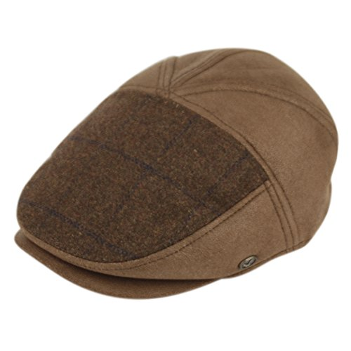 Epoch Ultra Faux Suede New Shape Ivy Hat (L, IV2328 BLACK) (New Suede Newsboy Hat)