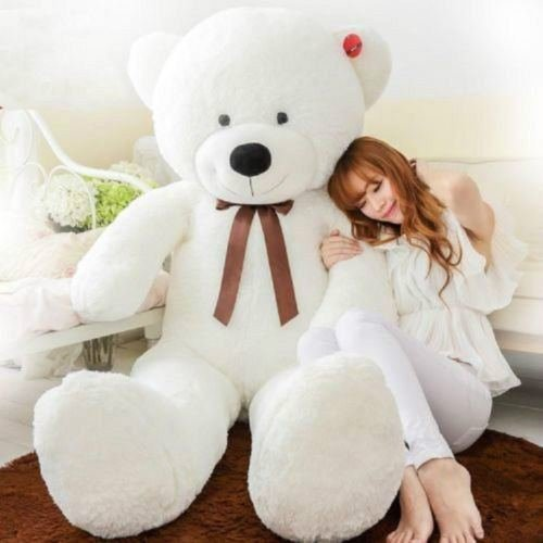 Stuffed Animal Teddy Bear Plush Soft Toy 120CM Huge Soft Toy White - 3