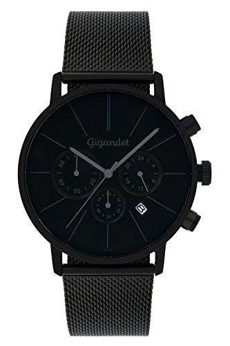 Gigandet-Quarz-Herren-Armbanduhr-Minimalism-Chronograph-Uhr-Datum-Analog-Edelstahlarmband-Schwarz-G32-008