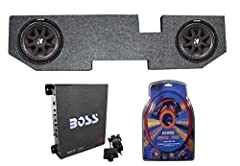 Package Includes: 2 Kicker Subwoofers Dodge Ram Quad 02 New Subwoofer Enclosure 1 x 1100 Watt Amplifier 1 x 4 Gauge Wiring Kit Subs will need to be wired and placed into box. This Kicker subwoofer is the best sounding, loudest bass for the bu...