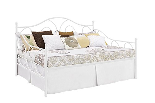 amazoncom dhp victoria full size metal daybed white kitchen dining