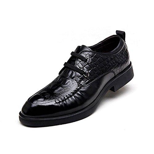 Affari Maschi Black di E Scarpe Coreana Alta Versione Inverno Cuoio Scarpe Oxford Casuale Scarpe Autunno Fascia Tendenza Casual di InHUw
