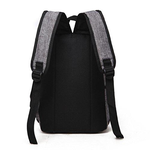 ZKOO Mochila de los Estudiantes Mujeres Hombres Mochila de Viaje Mochilas de Portátil de Lona Backpack Daypacks al Aire Libre Ocio Gris
