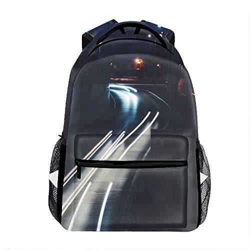 (Light City Road Backpack For School Shoulder Daypack)