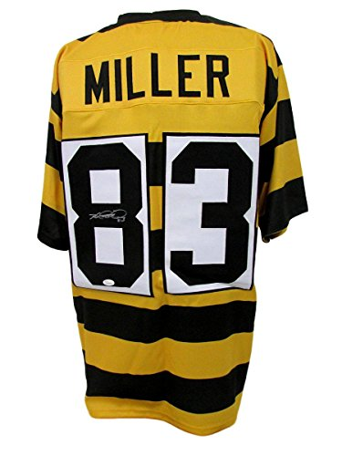 Heath Miller Pittsburgh Steelers Autographed/Signed Jersey Striped JSA 135644 ()