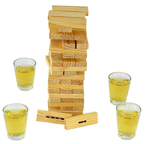 Fairly Odd Novelties Dunken Blocks Shot Glass Drinking Game, A Tower Of Fun!. (Christmas Games Elephant For White)