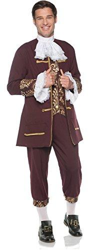 Men's Elegant Colonial Gentleman Costume, One Size ()